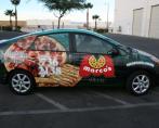 marcos pizza car wrap