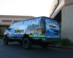 water damage van wrap