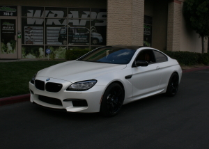 white car wrap