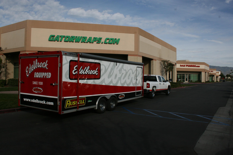 edelbrock equipped trailer wrap