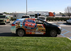 jersey mike's subs car wrap