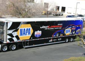 NAPA trailer wrap