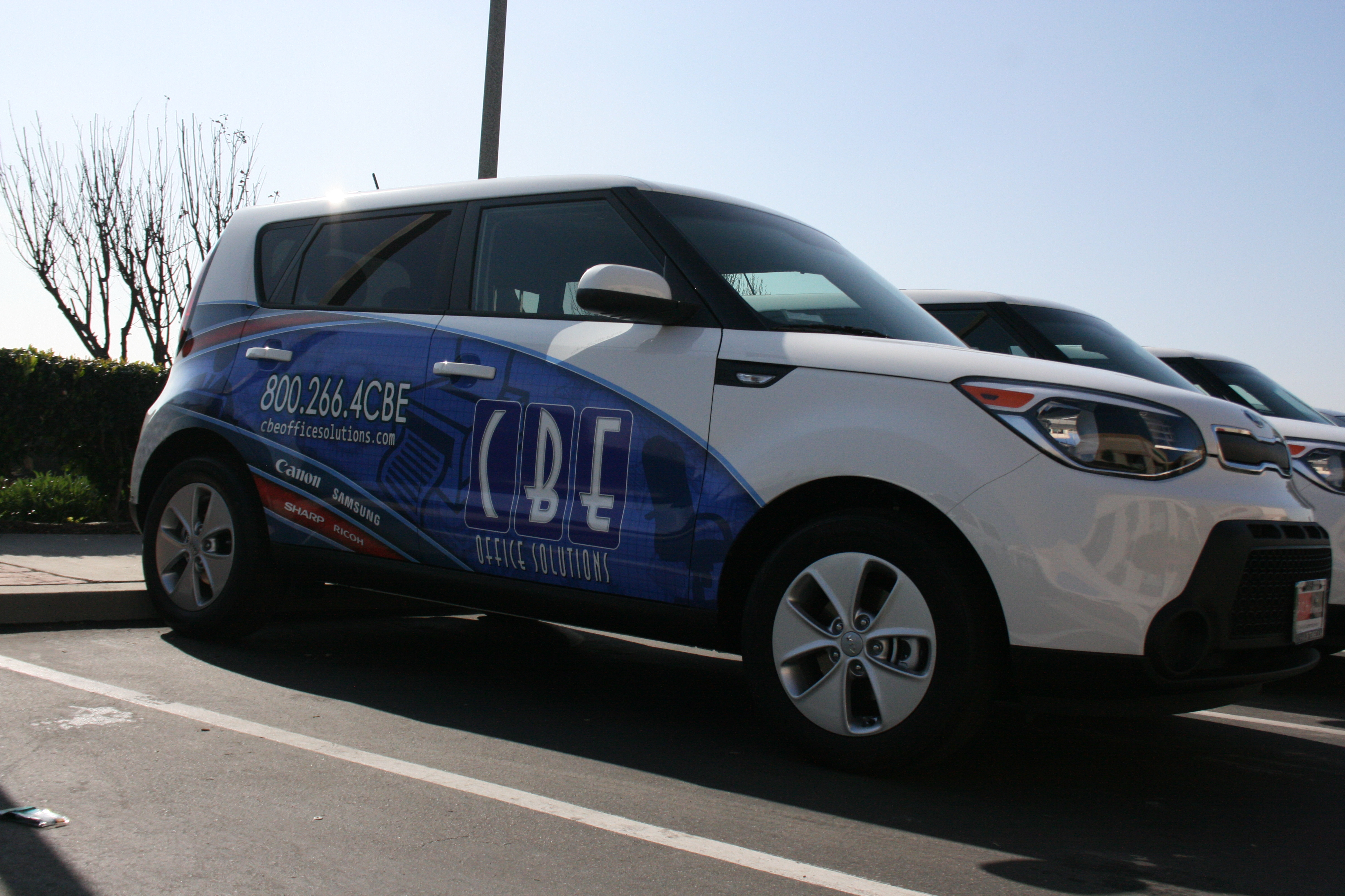 CBE Office Solutions fleet wraps
