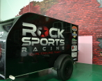 rock sports racing elite cycling team trailer wrap