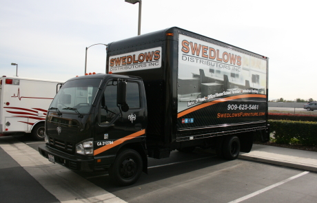 swedlows furniture trailer wrap