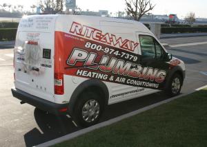 rite-a-way plumbing fleet wrap