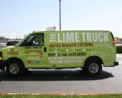 the lime truck van wrap