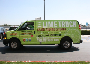 the lime truck van wrap