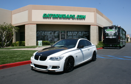 white black bmw wrap