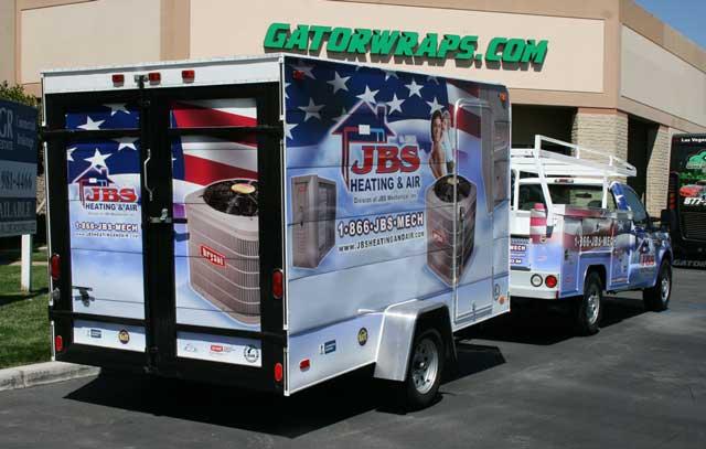 JBS Heating & Air Truck & Trailer Wrap