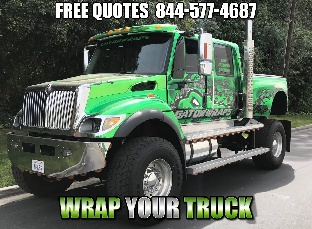 Truck Wraps Orange CA